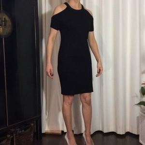 Black knitted dress, new